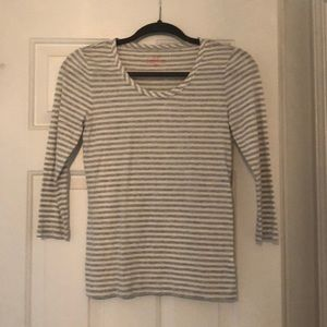Grey and white stripe top